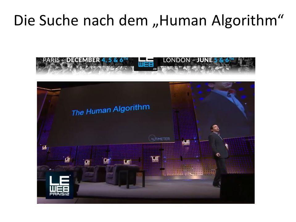 Die Suche nach dem Human Algorithm
