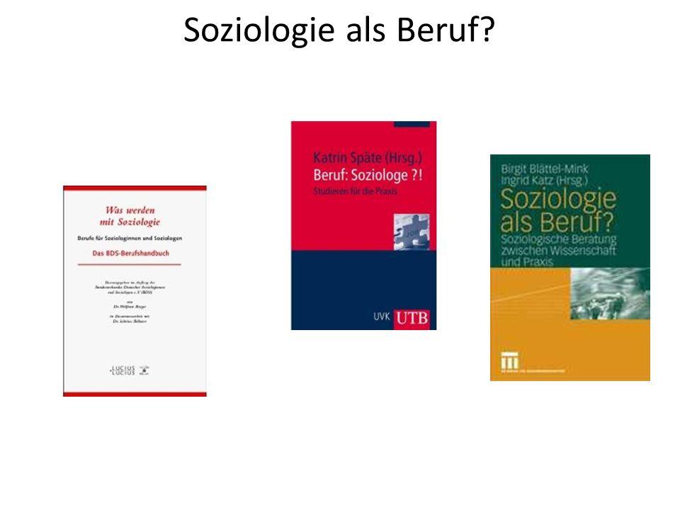 Soziologie als Beruf