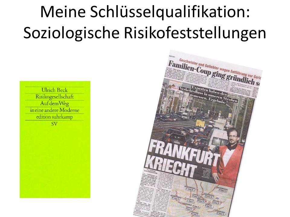Meine Schlüsselqualifikation: Soziologische Risikofeststellungen