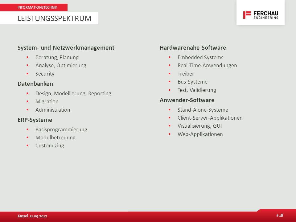 System- und Netzwerkmanagement Beratung, Planung Analyse, Optimierung Security Datenbanken Design, Modellierung, Reporting Migration Administration ER