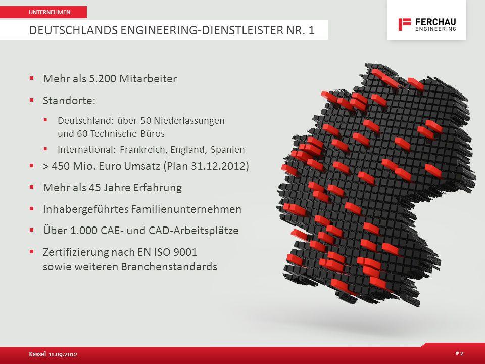 Mehr als 5.200 Mitarbeiter Standorte: Deutschland: über 50 Niederlassungen und 60 Technische Büros International: Frankreich, England, Spanien > 450 M