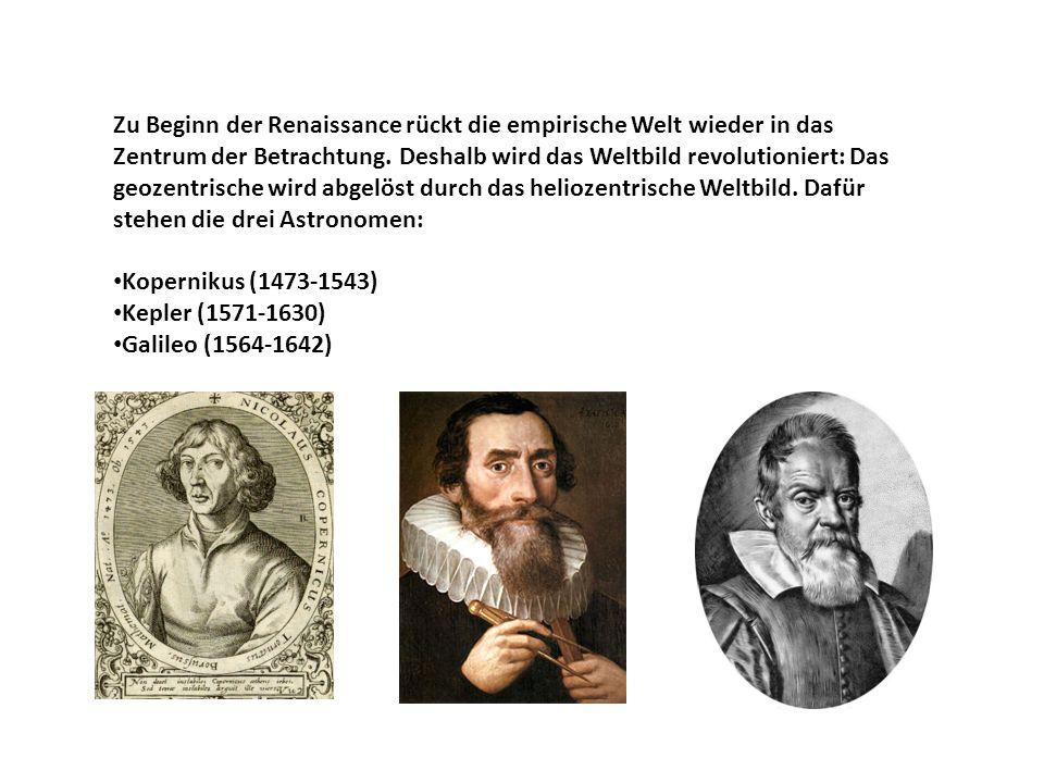 Zu Beginn der Renaissance rückt die empirische Welt wieder in das Zentrum der Betrachtung.
