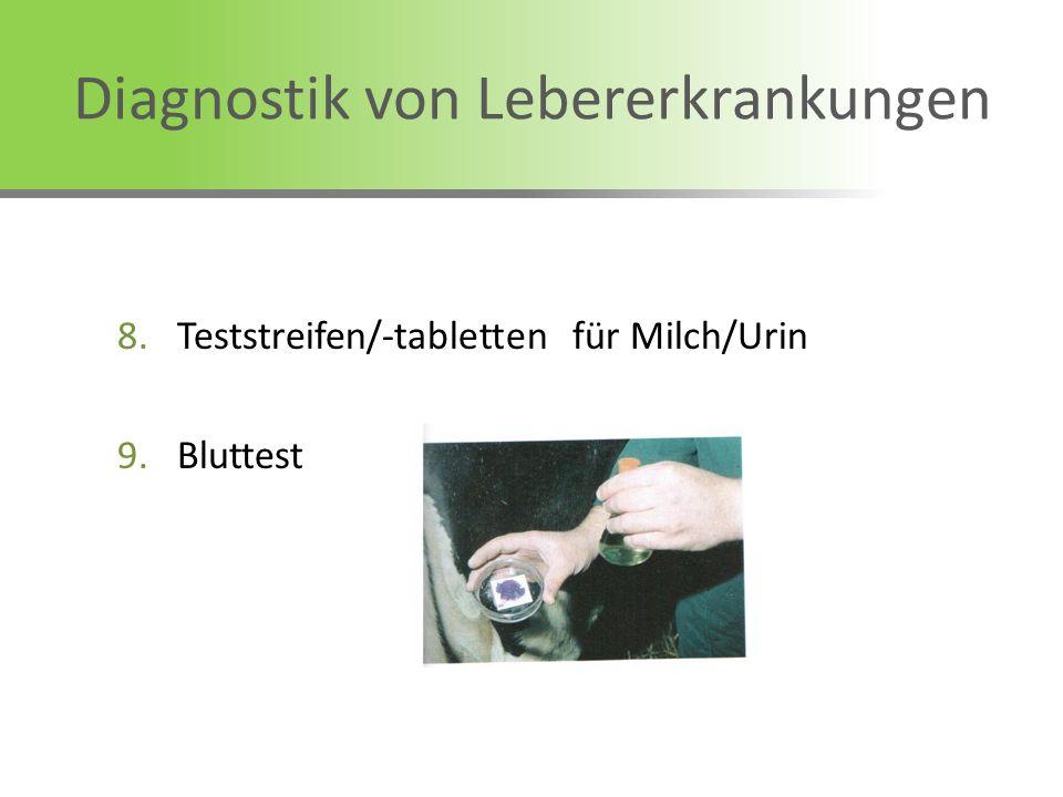 8.Teststreifen/-tabletten für Milch/Urin 9.Bluttest Diagnostik von Lebererkrankungen