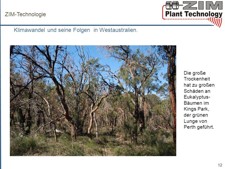 ZIM-Technologie Klimawandel und seine Folgen in Westaustralien.