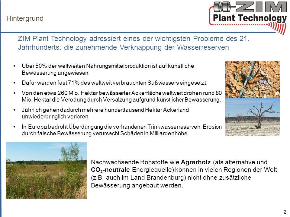Hintergrund ZIM Plant Technology adressiert eines der wichtigsten Probleme des 21.