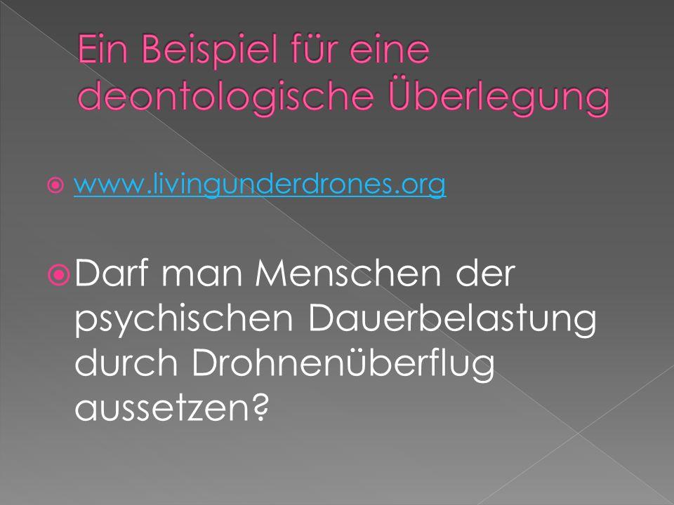 www.livingunderdrones.org Darf man Menschen der psychischen Dauerbelastung durch Drohnenüberflug aussetzen?