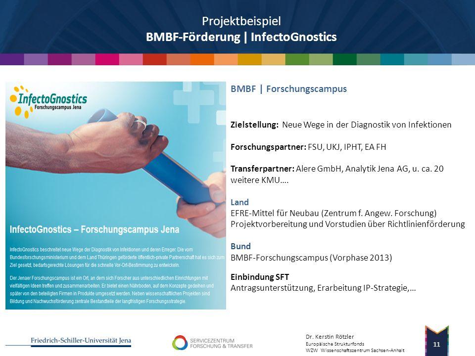 Dr. Kerstin Rötzler Europäische Strukturfonds WZW Wissenschaftszentrum Sachsen-Anhalt 10 Ziel: Diagnose- und Therapieverfahren im Kampf gegen Sepsis T