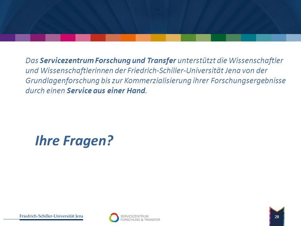 Dr. Kerstin Rötzler Europäische Strukturfonds WZW Wissenschaftszentrum Sachsen-Anhalt Verzahnung der Maßnahmen 19 Information und Beratung in Fakultät