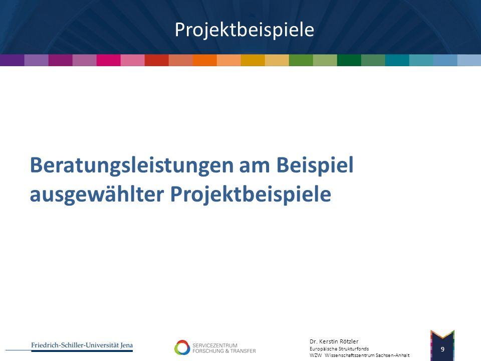 Dr. Kerstin Rötzler Europäische Strukturfonds WZW Wissenschaftszentrum Sachsen-Anhalt 8 Quelle: Kulicke et al. Nachhaltigkeit der EXIST-Förderung, FhG