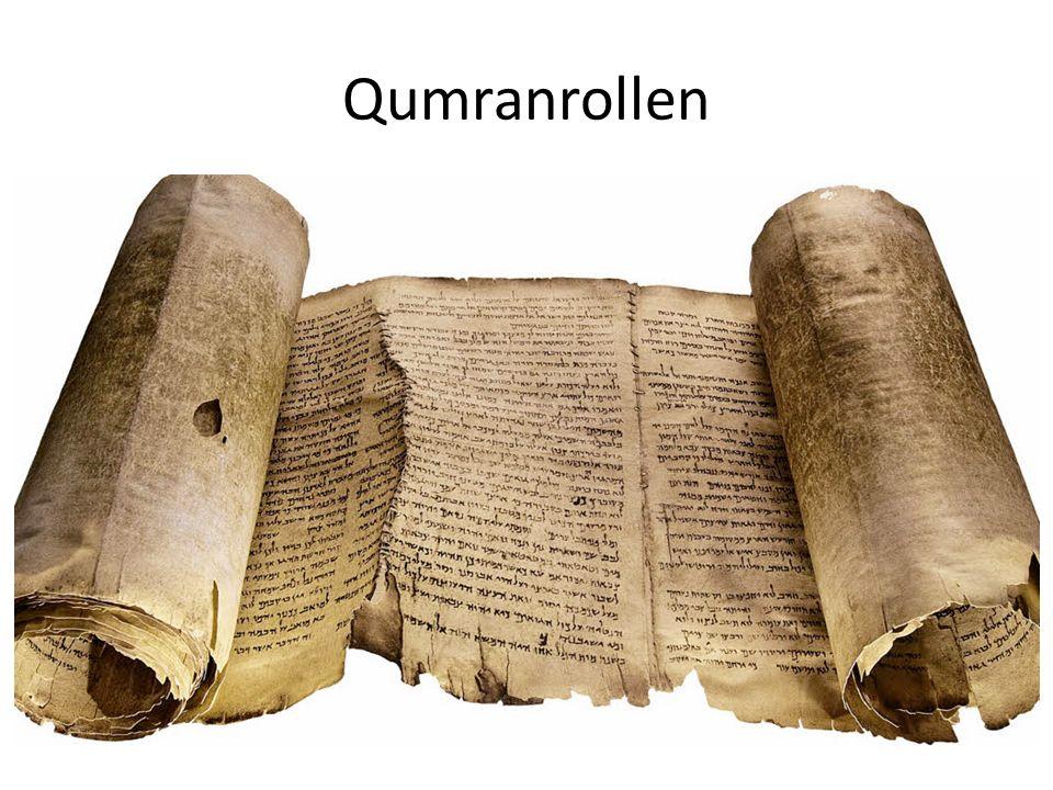 Qumranrollen Wichtige Personen für die Qumranrollen