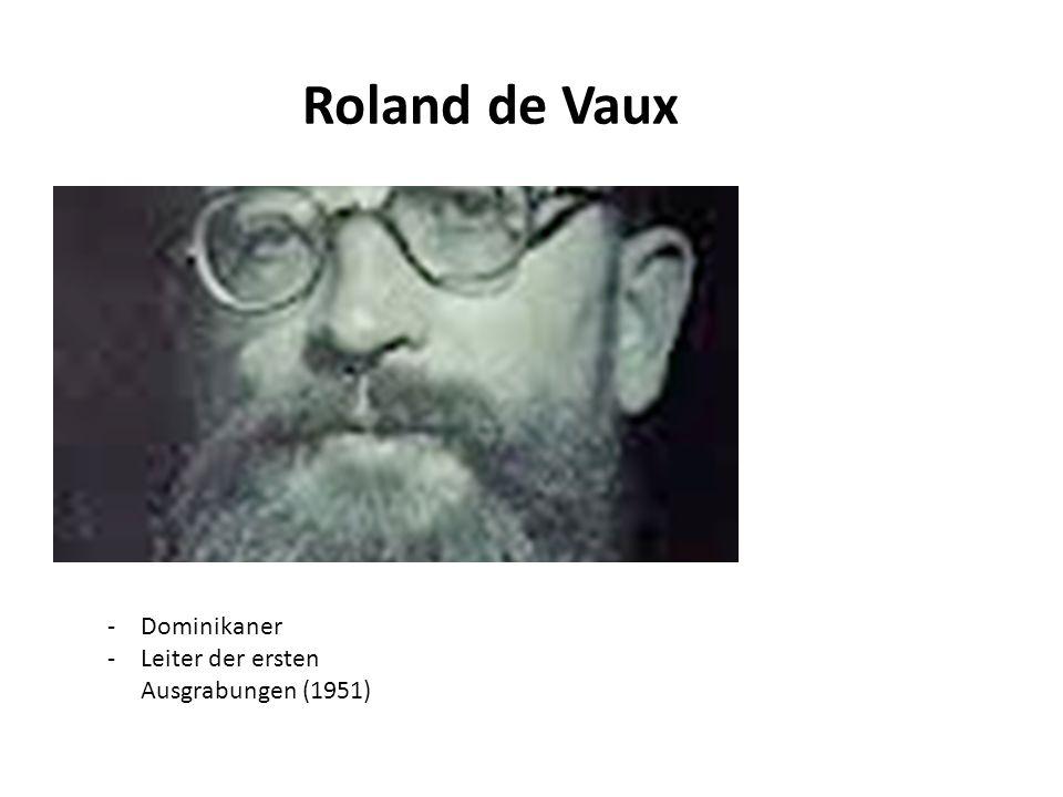 Roland de Vaux -Dominikaner -Leiter der ersten Ausgrabungen (1951)