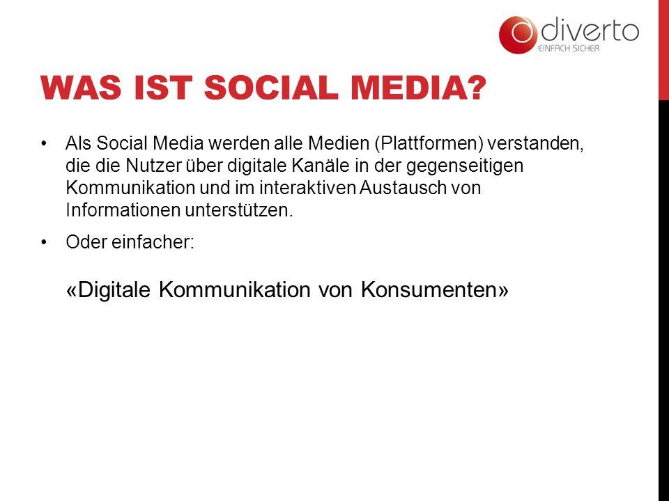 WAS IST SOCIAL MEDIA? Als Social Media werden alle Medien (Plattformen) verstanden, die die Nutzer über digitale Kanäle in der gegenseitigen Kommunika