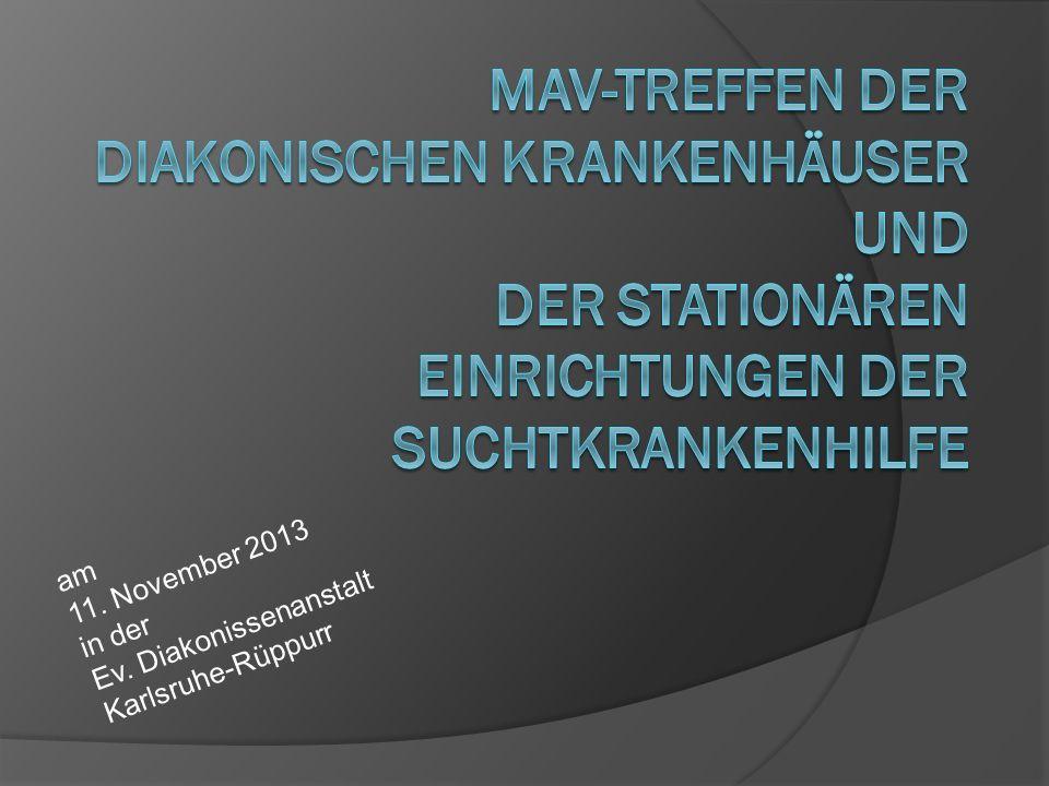 am 11. November 2013 in der Ev. Diakonissenanstalt Karlsruhe-Rüppurr