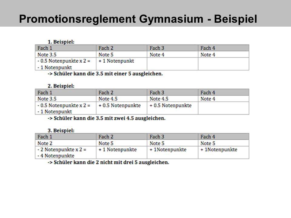 Promotionsreglement Gymnasium - Beispiel
