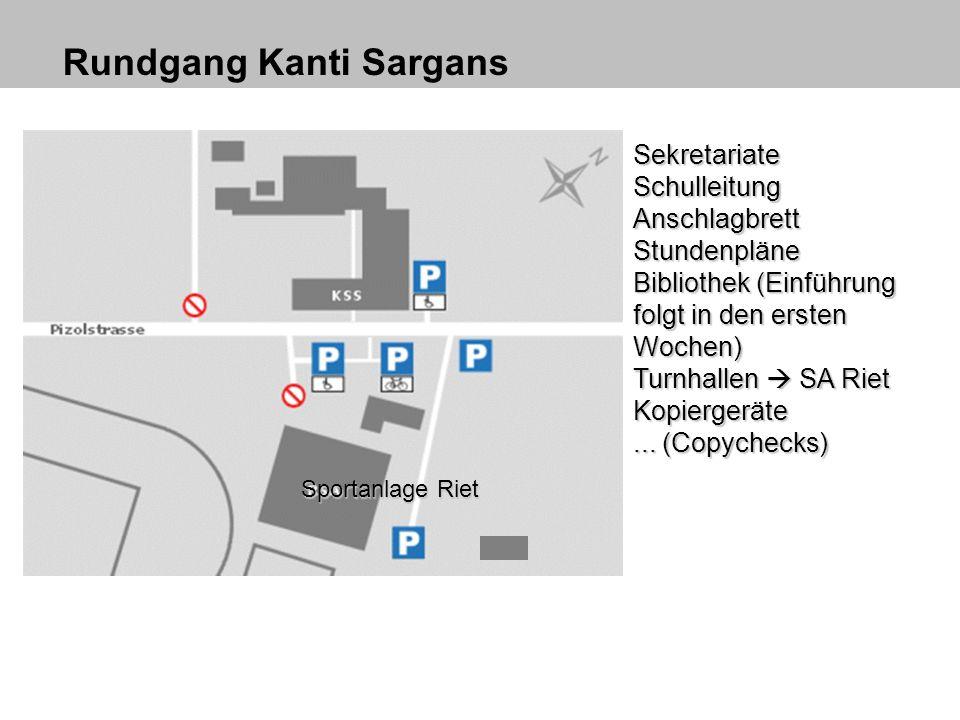 Homepage der KSS – Educanet2 www.kantisargans.ch Dort sind immer die aktuellsten Reglemente/Dokumente usw.