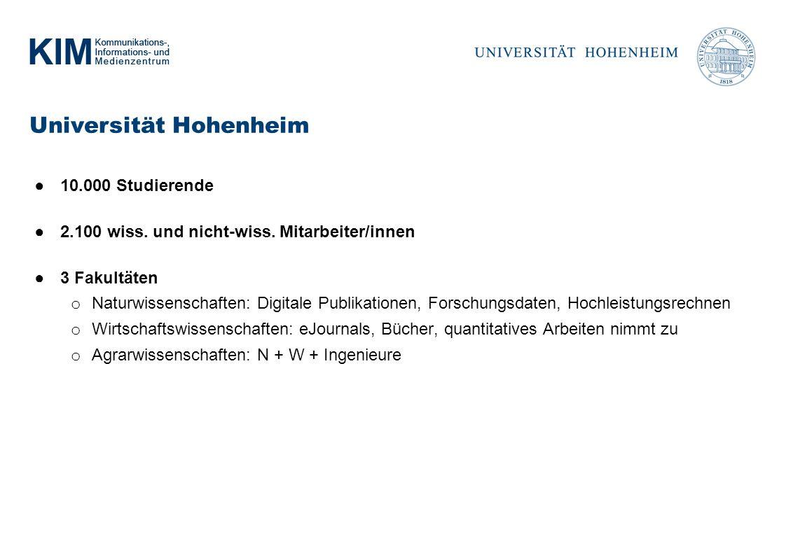 Universität Hohenheim 10.000 Studierende 2.100 wiss.