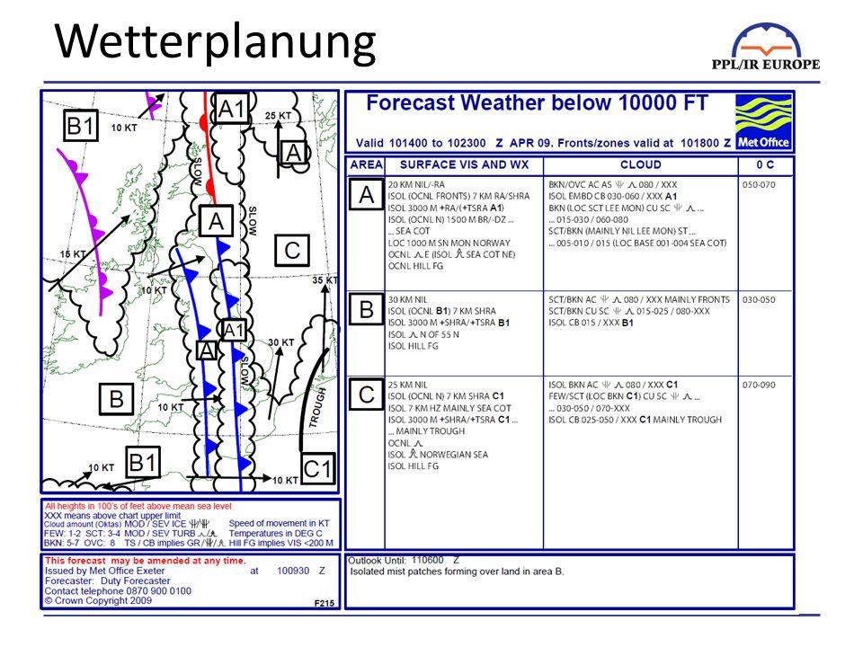 Wetterplanung