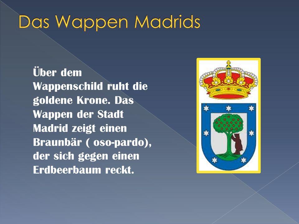 Lage: Region Madrid, Zentralspanien - mit ihrer Lage von 650 m über dem Meeresspiegel, die am höchsten gelegene Hauptstadt Einwohner: 3.3 Millionen Et