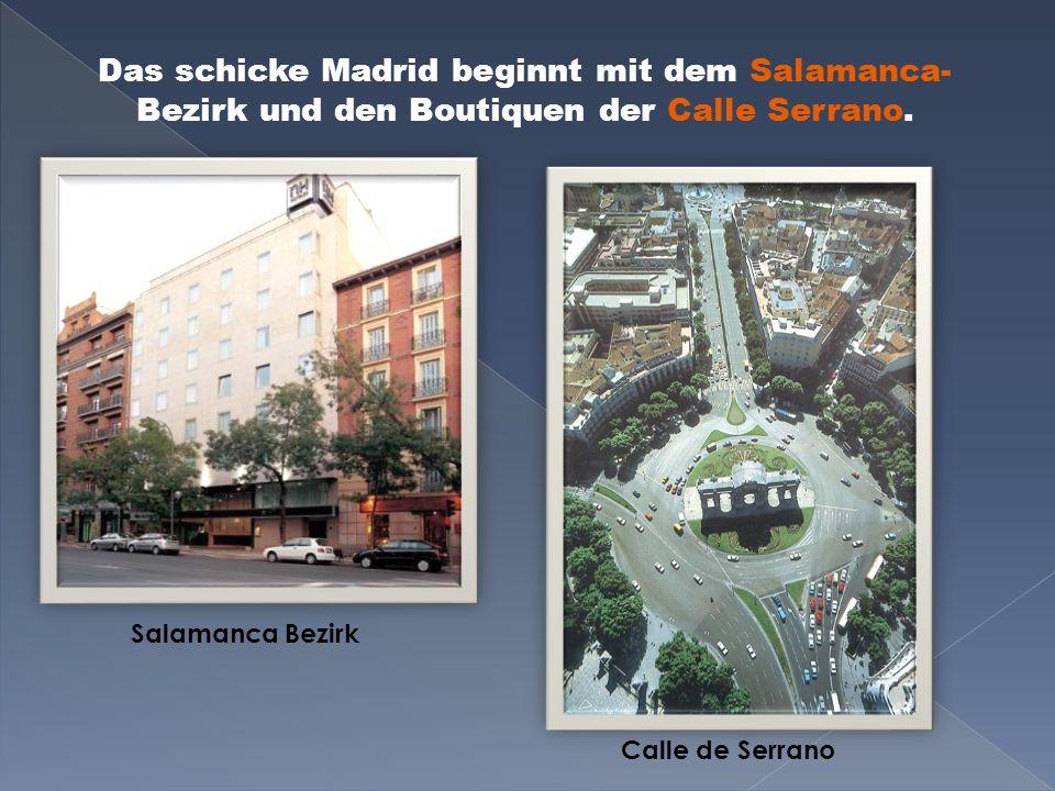 Hauptstraße: Gran Via Das Metropolis-Haus auf der Gran Via Madrid-Paris Gebäude auf der Gran Via