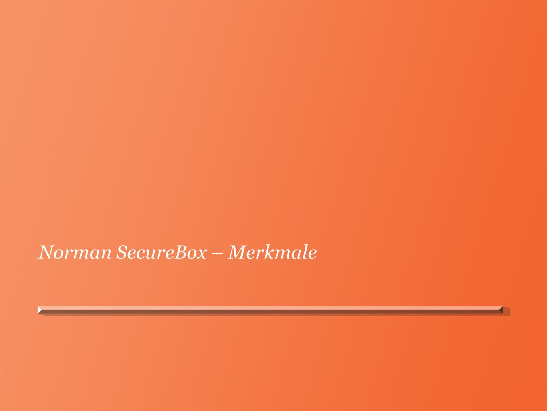 Norman SecureBox – Merkmale