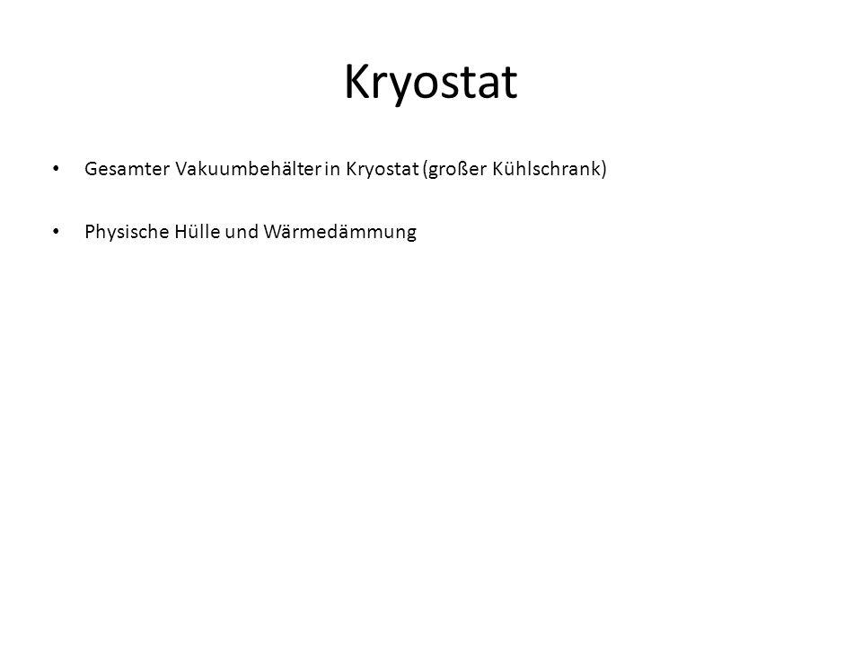 Gesamter Vakuumbehälter in Kryostat (großer Kühlschrank) Physische Hülle und Wärmedämmung