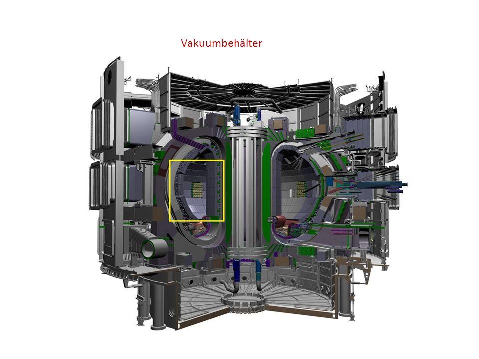 Stellarator Ebenfalls torusförmig Name: Stella=Stern Einschließende Magnetfeld ausschließlich durch Spulen 2 Vorteile gegenüber Tokamak: kein toroidaler Strom-> Dauerstrich-betrieb.