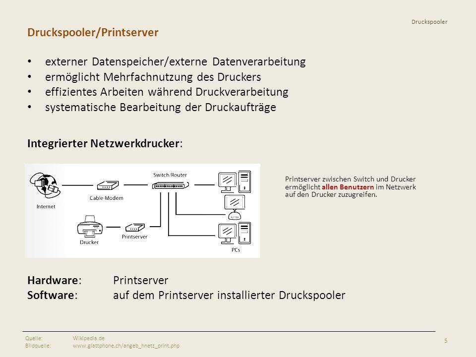 Druckspooler Druckspooler/Printserver externer Datenspeicher/externe Datenverarbeitung ermöglicht Mehrfachnutzung des Druckers effizientes Arbeiten wä