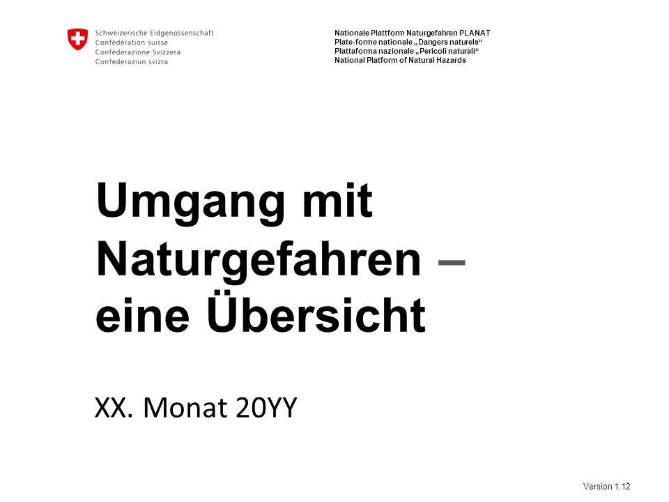 12 Umgang mit Naturgefahren | eine Übersicht PLANAT Beispiele in der Schweiz – 23.