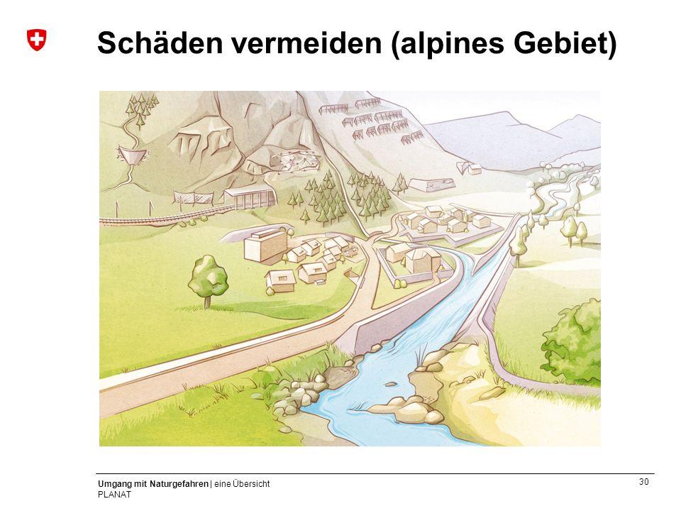 30 Umgang mit Naturgefahren | eine Übersicht PLANAT Schäden vermeiden (alpines Gebiet)