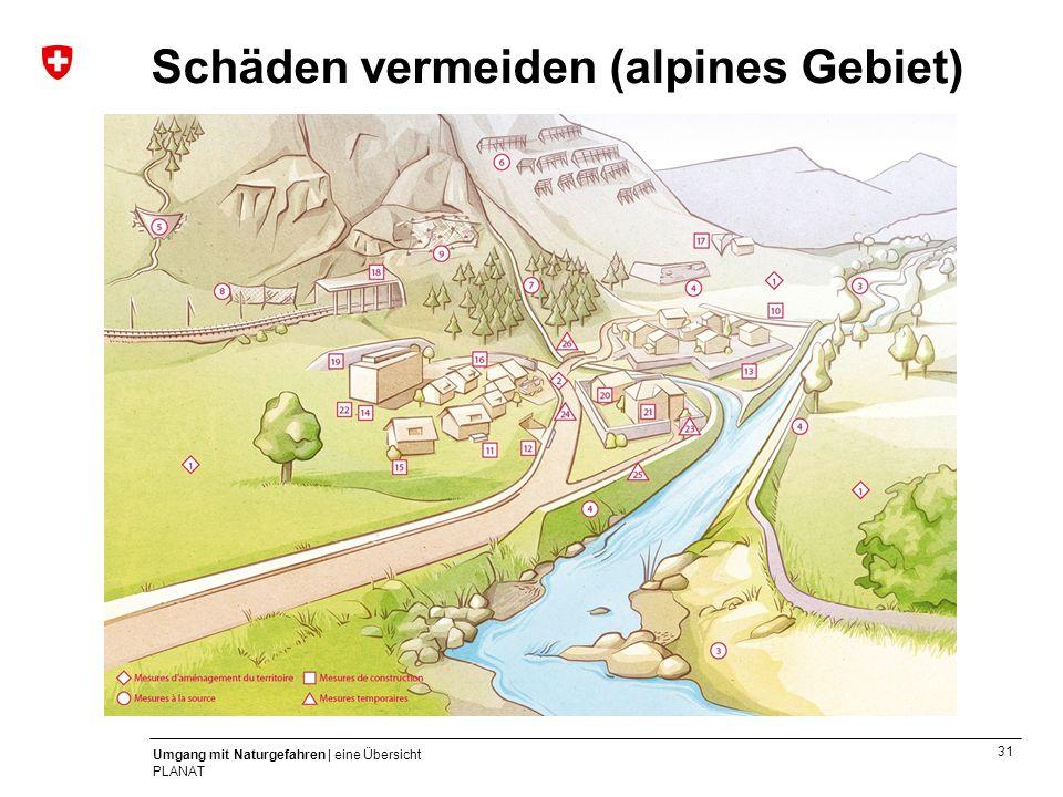 31 Umgang mit Naturgefahren | eine Übersicht PLANAT Schäden vermeiden (alpines Gebiet)