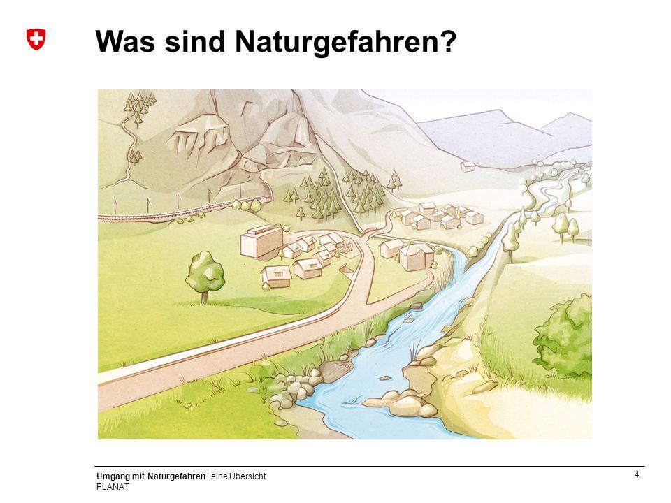 15 Umgang mit Naturgefahren | eine Übersicht PLANAT Jährlich in der Schweiz – durchschnittlich ca.