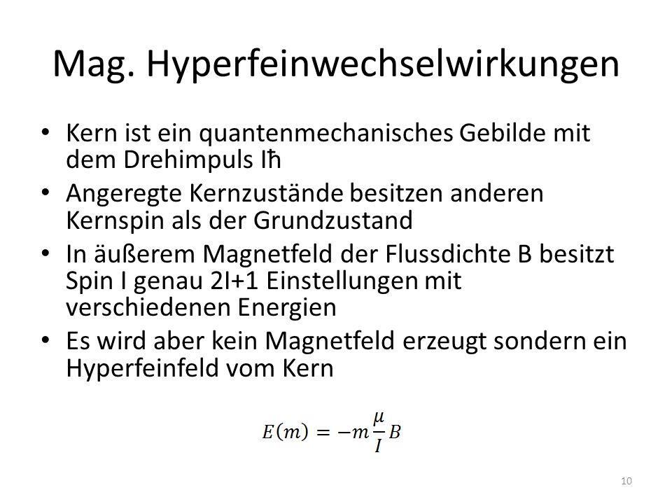http://ruby.chemie.uni- freiburg.de/Vorlesung/SVG/Methoden_ac/ mb_magnetische_ww.svg (Stand 9.12.13) 11