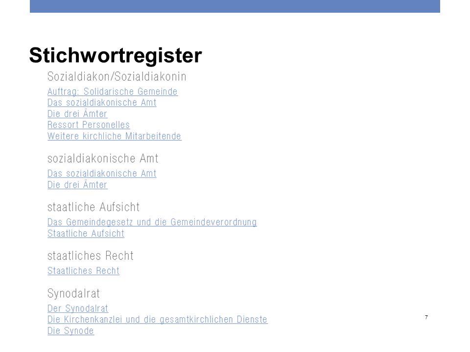 Stichwortregister Reformierte Kirchen Bern-Jura-Solothurn 7