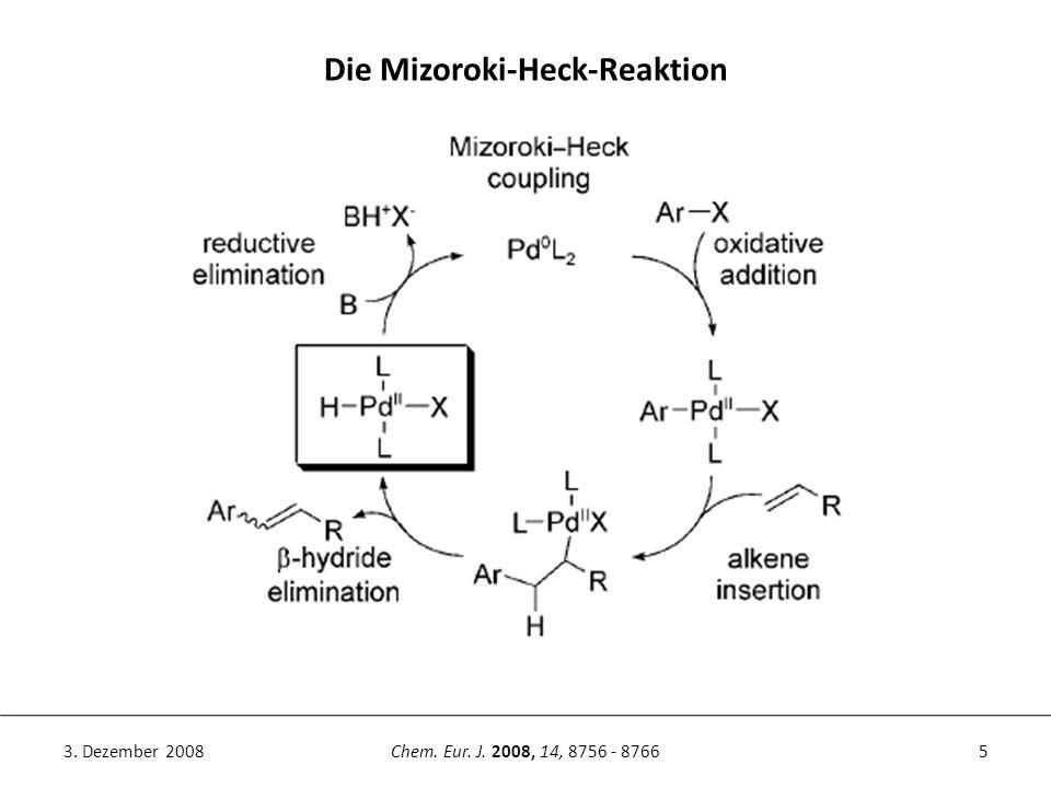 5Chem. Eur. J. 2008, 14, 8756 - 87663. Dezember 2008 Die Mizoroki-Heck-Reaktion
