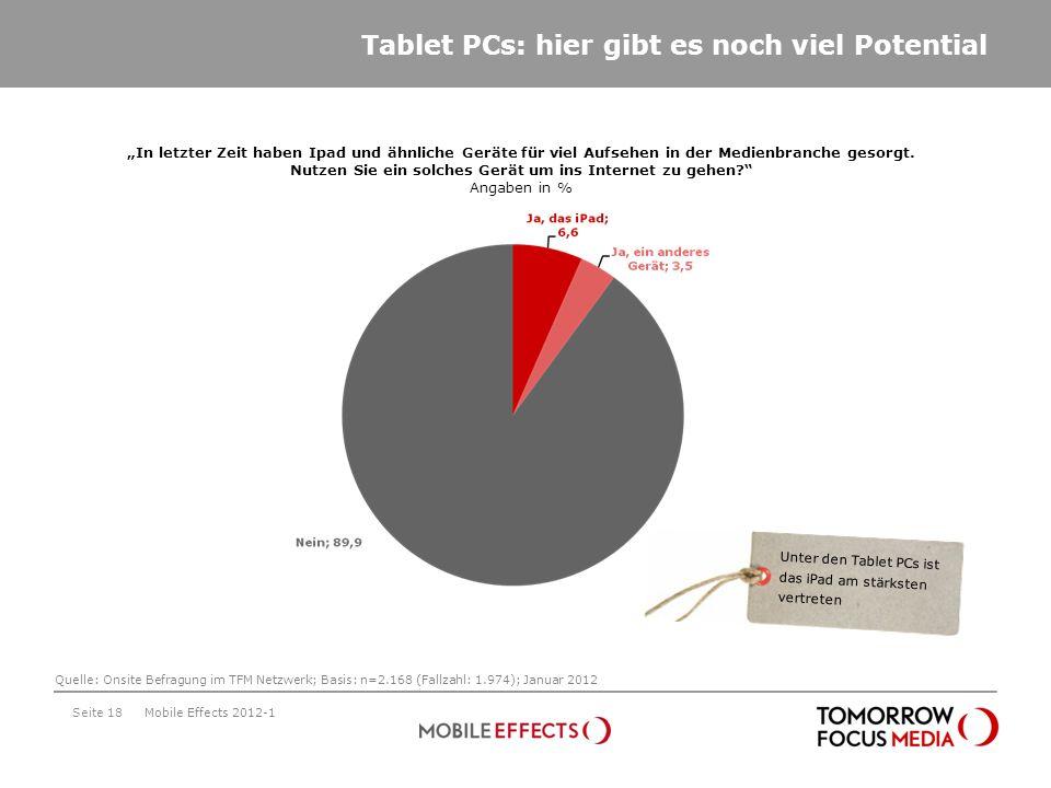 Tablet PCs: hier gibt es noch viel Potential Seite 18 In letzter Zeit haben Ipad und ähnliche Geräte für viel Aufsehen in der Medienbranche gesorgt. N