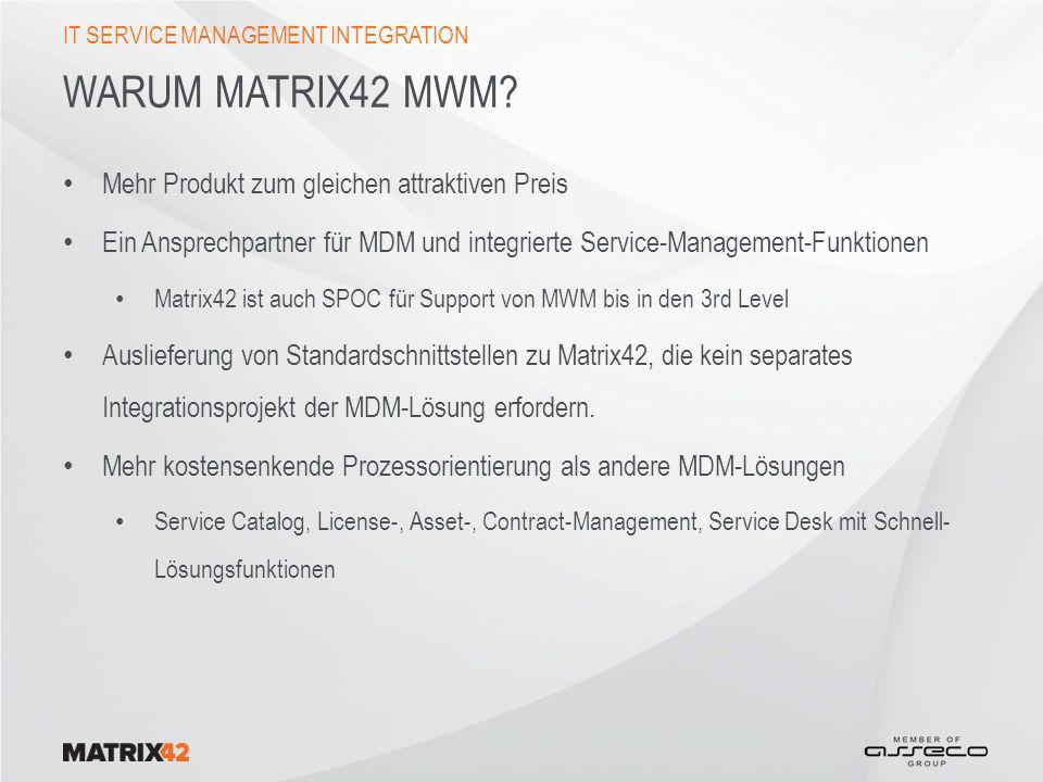 WARUM MATRIX42 MWM.