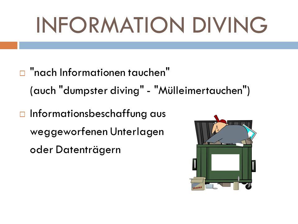 INFORMATION DIVING