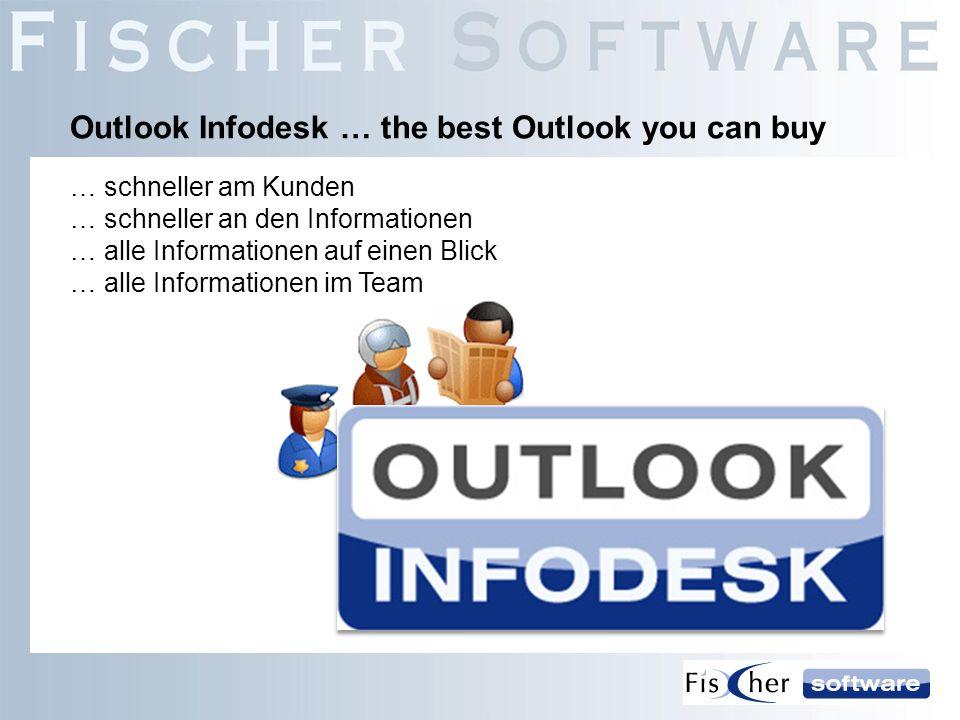 … schneller am Kunden … schneller an den Informationen … alle Informationen auf einen Blick … alle Informationen im Team Outlook Infodesk … the best O