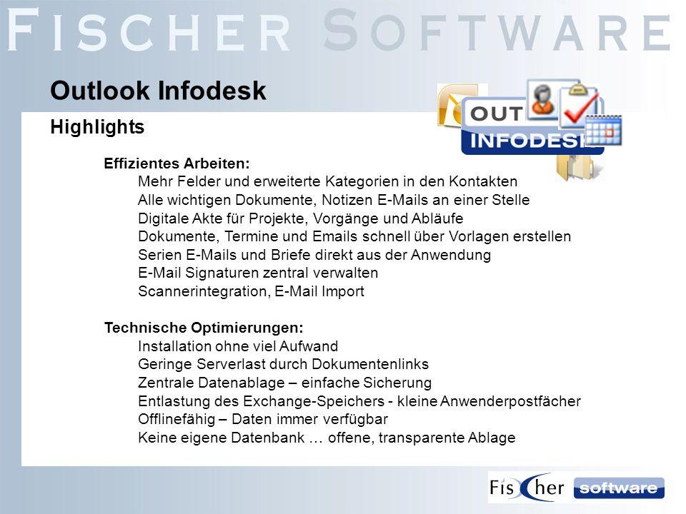 Effizientes Arbeiten: Mehr Felder und erweiterte Kategorien in den Kontakten Alle wichtigen Dokumente, Notizen E-Mails an einer Stelle Digitale Akte f