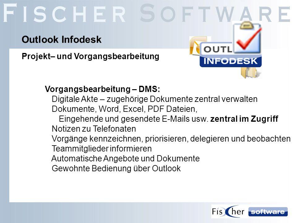 Vorgangsbearbeitung – DMS: Digitale Akte – zugehörige Dokumente zentral verwalten Dokumente, Word, Excel, PDF Dateien, Eingehende und gesendete E-Mail