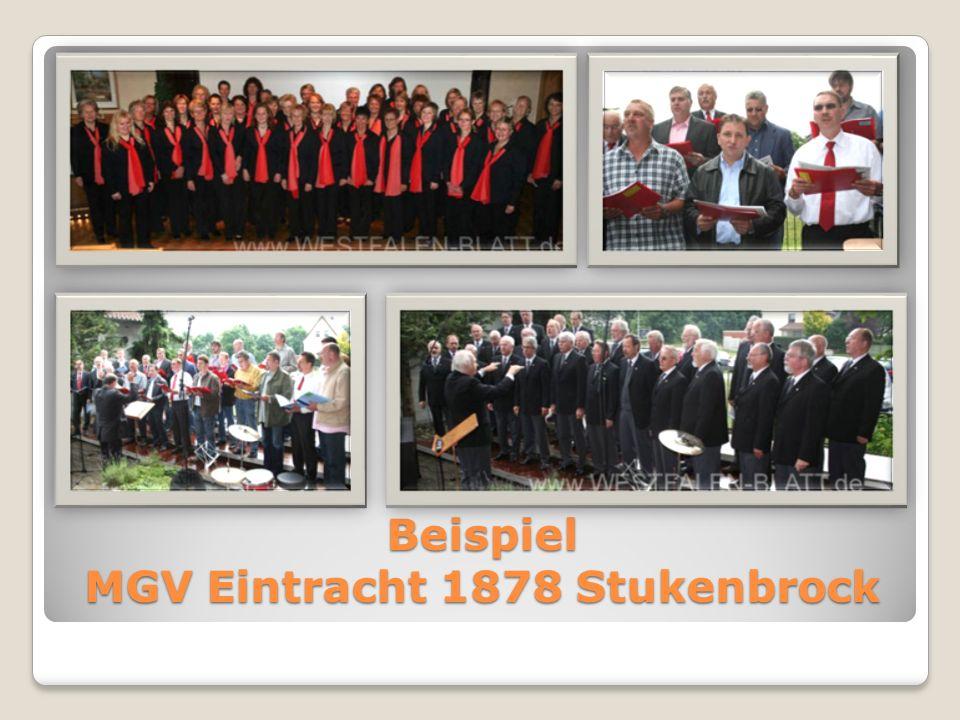 Beispiel MGV Eintracht 1878 Stukenbrock