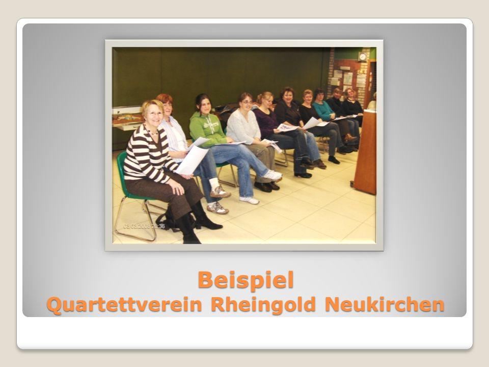 Beispiel Quartettverein Rheingold Neukirchen