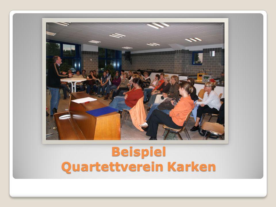 Beispiel Quartettverein Karken