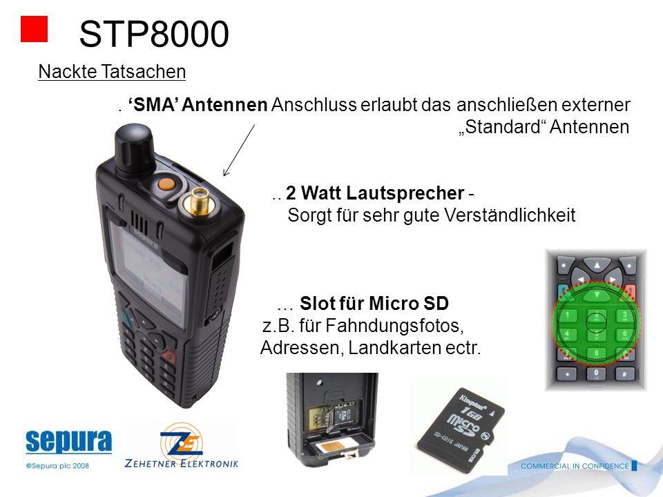 STP8000 Nackte Tatsachen.. 3 Schriftgrößen stehen um schaltbar zu Verfügung … Sehr große, auch für Handschuhbetrieb geeignet Sprechtaste mit verbesser