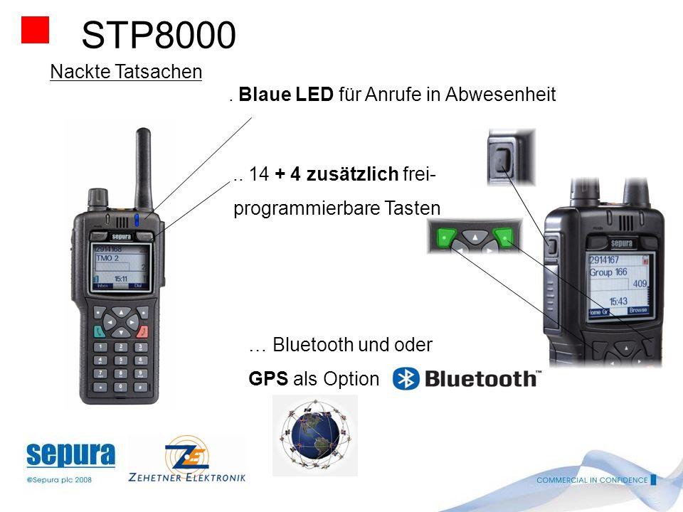 STP8000 Nackte Tatsachen. SMA Antennen Anschluss erlaubt das anschließen externer Standard Antennen.. 2 Watt Lautsprecher - Sorgt für sehr gute Verstä
