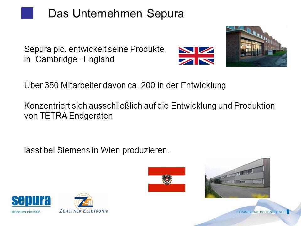 1 Themen CONTENTS Sepura - Unternehmen Sepura – Produktportfolio Übersicht STP 8000 Neues Handfunkgerät Unser Partner in Österreich BOS Deutschland / Stand der Dinge