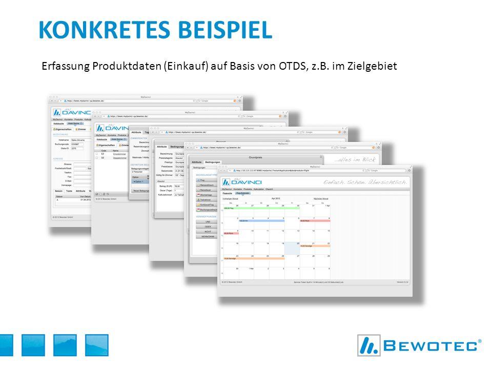 KONKRETES BEISPIEL Erfassung Produktdaten (Einkauf) auf Basis von OTDS, z.B. im Zielgebiet