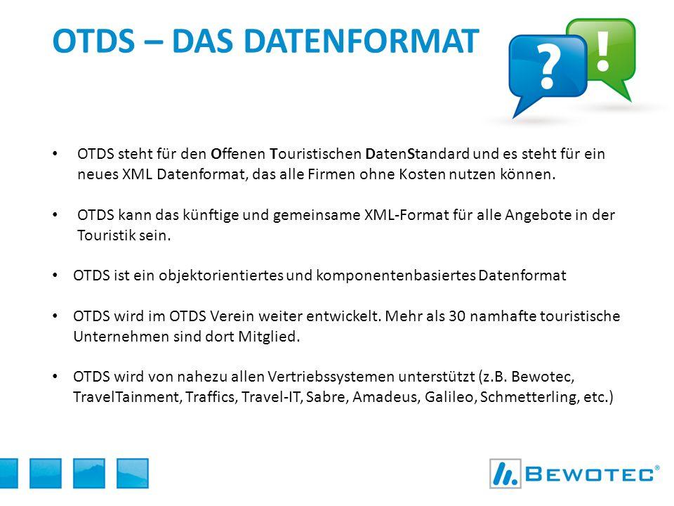 KONKRETES BEISPIEL Bereitstellung der OTDS Daten in den Vertriebssystemen Einkaufsdaten OTDS KalkulationProduktdefinition OTDS Verkaufsdaten Veranstalter- System Verkauf OTDS OTDS Player Bistro, LM Plus, etc.