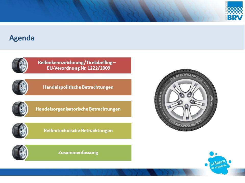 Hier steht eine Headline Subheadline Agenda Reifenkennzeichnung/Tirelabelling – EU-Verordnung Nr.