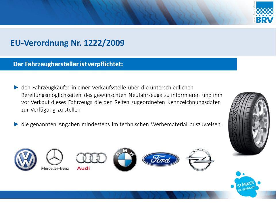 Hier steht eine Headline Subheadline Zusammenfassung Mit der Einführung des Reifenlabels nach EU-VO 1222/2009 ab 01.07.2012 bzw.